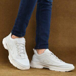 High heel white sneakers