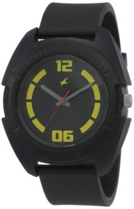 All-black fastrack watch