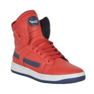 high top red shoes for men