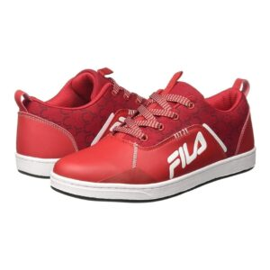 file red sneakers for men