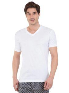 V neck white t shirt