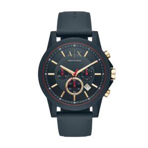 armani gold dial watch