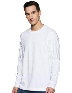 plain white full sleeve t-shirt