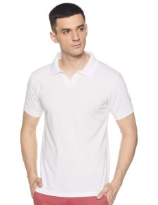 solid white polo t shirt